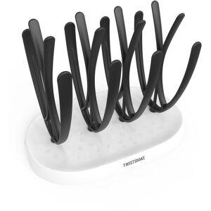 Twistshake Oppvaskstativ, Hvit/Svart
