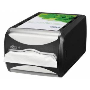 Servettdispenser TORK liggande Xpressnap N4, svart
