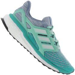 adidas Tênis adidas Energy Boost - Feminino - Cinza/Verde Cla