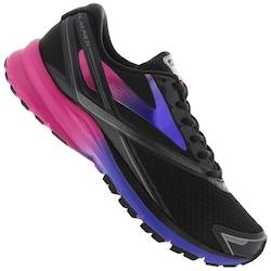 Brooks Tênis Brooks Launch 4 - Feminino - Preto/Rosa Esc
