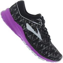 Brooks Tênis Brooks Launch 5 - Feminino - PRETO/ROXO