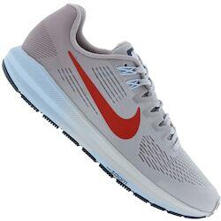 Nike Tênis Nike Air Zoom Structure 21 - Feminino - CINZA CLA/VERMELHO