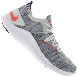 Nike Tênis Nike Free TR Flyknit 3 - Feminino - CINZA CLA/AZUL