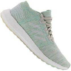 adidas Tênis adidas Pureboost GO - Feminino - Verde Claro/Branco