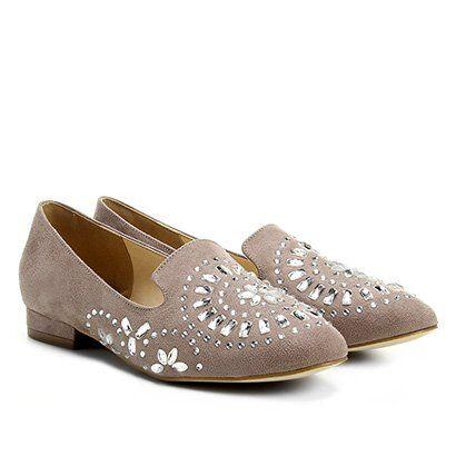 Slipper Shoestock Hotfix - Feminino-Cinza