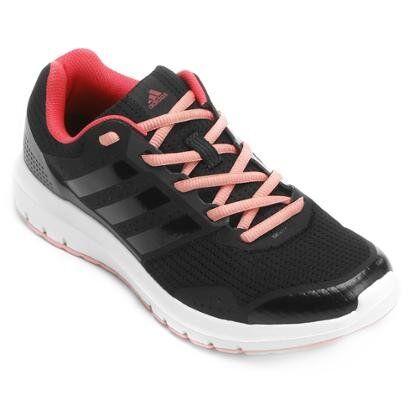 Tênis Adidas Duramo 7 Feminino - Feminino-Preto+Rosa