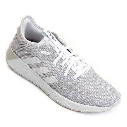 Tênis Adidas Questar X Byd Feminino - Feminino-Branco+Azul