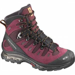 Salomon Quest 4D GTX lett fjellstøvel dame Bordeaux/Black/Or