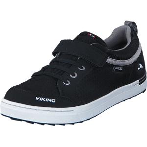 Viking Sagene GTX Black/White, Sko, Sneakers & Sportsko, Sneakers, Svart, Barn, 26