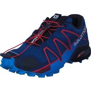 Salomon Speedcross 4 Poseidon/Hawaiian/Fiery Red, Sko, Sneakers & Sportsko, Løpesko, Blå, Herre, 40