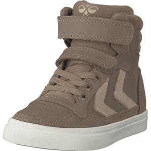 Hummel Stadil Oiled High Jr Taupe Grey, Sko, Sneakers & Sportsko, Høye Sneakers, Brun, Barn, 35