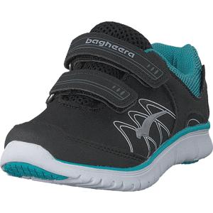 Bagheera Micro Black/turquoise, Sko, Sneakers & Sportsko, Løpesko, Svart, Barn, 22