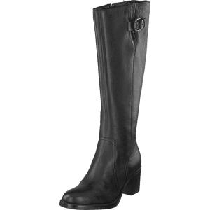 Clarks Mascarpone Ela Black Leather, Sko, Støvler & Støvletter, Høyhælte støvler, Grå, Svart, Dame, 36