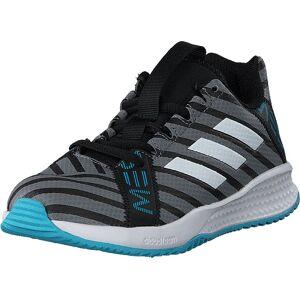 adidas Sport Performance Rapidaturf Messi K Core Black/Ftwr Wht/Super Cyan, Sko, Sneakers & Sportsko, Sneakers, Grå, Barn, 30