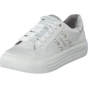 Dockers by Gerli 42bm222-680500 White, Sko, Sneakers og Treningssko, Lave Sneakers, Hvit, Dame, 40