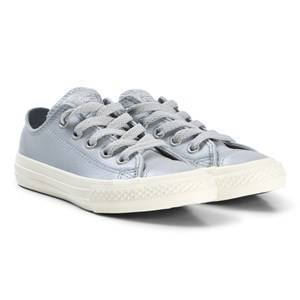 Converse Pearlescent Blue-Grey Chuck Taylor All Star OX Junior Leather Sneakers 27 (UK 10)