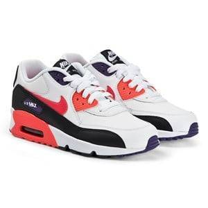 NIKE Air Max 90 Sneakers White and Bright Crimson 35.5 (UK 3)