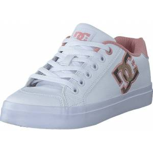DC Shoes Chelsea Plus Se Sn White/pink, Skor, Sneakers & Sportskor, Låga sneakers, Vit, Dam, 40