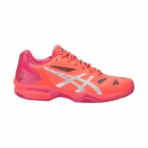 Asics Gel-Lima Padel Women Flash Coral/Silver/Rouge Red Size 37.5 37.5