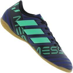 adidas Chuteira Futsal adidas Nemeziz Messi 17.4 IN - Adulto - AZUL ESC/VERDE