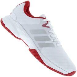 adidas Tênis adidas Barricade Court 3 - Masculino - BRANCO/VERMELHO