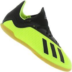 adidas Chuteira Futsal adidas X Tango 18.3 IC - Infantil - VERDE CLARO/PRETO