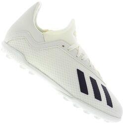 adidas Chuteira Society adidas X Tango 18.3 TF - Infantil - Off White