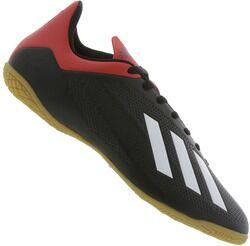 adidas Chuteira Futsal adidas X 18.4 IN - Adulto - PRETO/VERMELHO