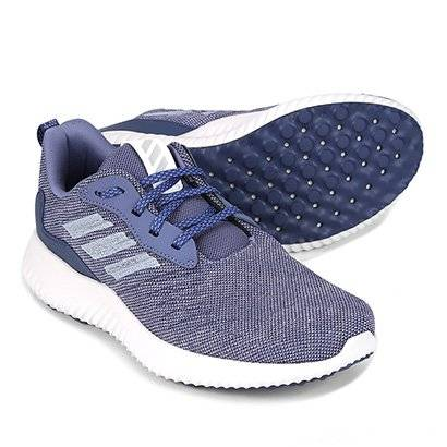 Tênis Adidas Alphabounce Racer Feminino - Feminino-Azul+Cinza