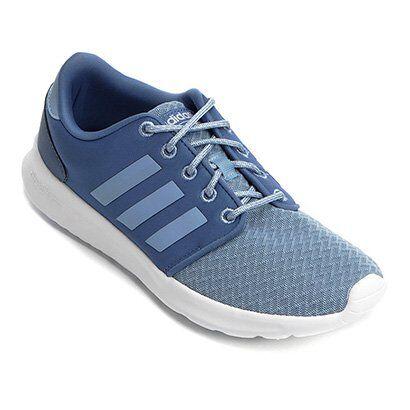 Tênis Adidas CF QT Racer Feminino - Feminino-Azul