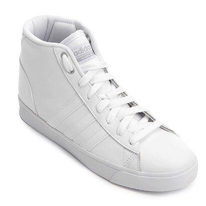 Tênis Adidas Cloudfoam Daily QT Feminino - Feminino-Branco