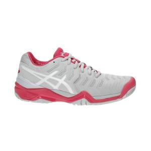 Asics Resolution 7 Glacier Grey/White/Rouge Red Size 37 40
