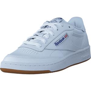 Reebok Classic Club C 85 Int-White/Royal-Gum, Sko, Sneakers & Sportsko, Sneakers, Hvit, Herre, 45