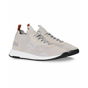Boss Titanium Mesh Running Sneaker Light Beige