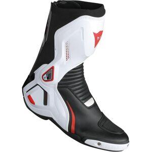 Dainese Course D1 Out Motorsykkel støvler Svart Hvit Rød 40