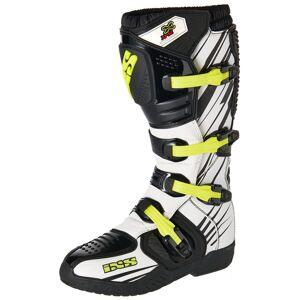 IXS XP-S2 Motocross støvler 48 Svart Hvit