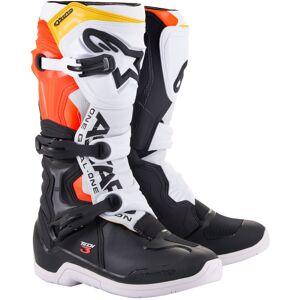 Alpinestars Tech 3 Motocross støvler 52 Svart Hvit Rød