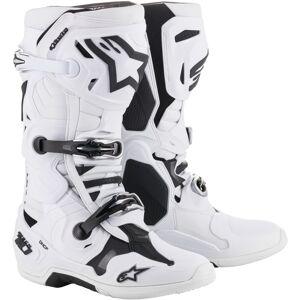 Alpinestars Tech-10 Motocross støvler 45 46 Hvit