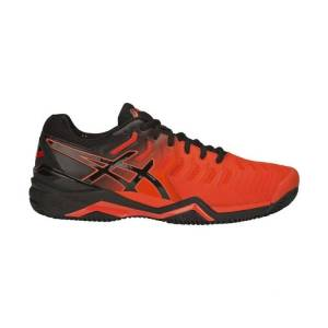 Asics Resolution 7 Clay Cherry Tomato/Black Size 45 45