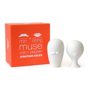 Jonathan Adler Mr. & Mrs. Muse Salt & Pepparströare, Vit