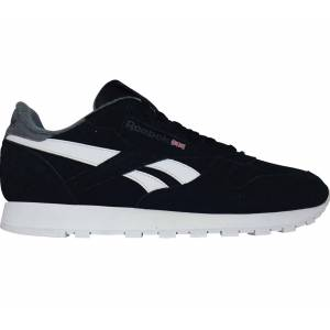 Reebok CL Leather MU Herr Sneakers svart