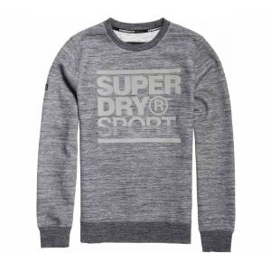 SUPERDRY SPORT® - Gym Tech Crew Herr training pullover (grå) - M