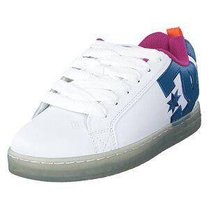 DC Shoes Court Graffik Se White/black/cyan, Herr, Shoes, blå, EU 42,5