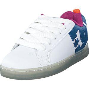DC Shoes Court Graffik Se White/black/cyan, Skor, Sneakers och Träningsskor, Sneakers, Blå, Vit, Herr, 41
