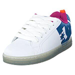 DC Shoes Court Graffik Se White/black/cyan, Shoes, blå, EU 42,5