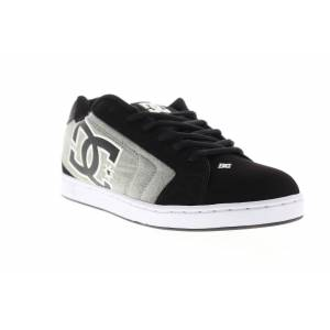 DC netto SE mens svart nubuck & canvas Athletic spetsar upp skate skor