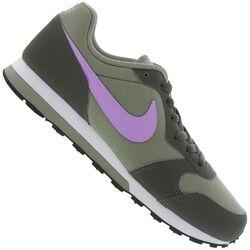 Nike Tênis Nike MD Runner 2 Feminino- Infantil - Verde Esc/Roxo