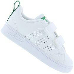 adidas Tênis para Bebê adidas VS Advantage Clean - Infantil - BRANCO/VERDE