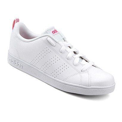 Tênis Adidas Vs Advantage Clean K Infantil - Unissex-Branco+Vermelho