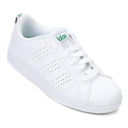 Tênis Infantil Adidas Advantage Clean - Unissex-Branco+Verde